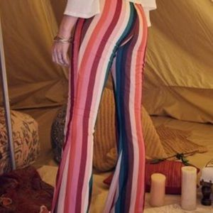 NWOT sage the label rainbow flare pants